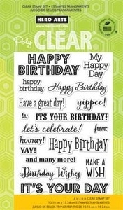 Hero Arts Clear Stamps IT'S YOUR DAY CL661 Preview Image
