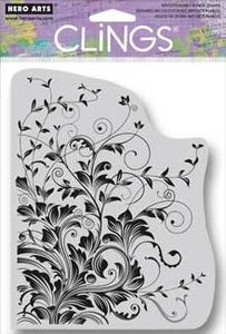 Hero Arts Cling Stamp LEAFY VINES cg509 Rubber Unmounted Preview Image