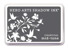 Hero Arts Shadow Ink Pad CHARCOAL Black Mid-Tone af236