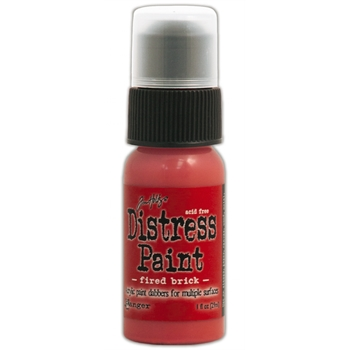 Tim Holtz Distress Paint FIRED BRICK Ranger TDD36357
