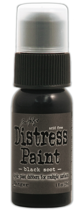 Tim Holtz Distress Paint BLACK SOOT Ranger TDD36302 zoom image