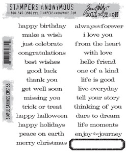 Tim Holtz Cling Rubber Stamps SIMPLE SAYINGS cms155 Preview Image