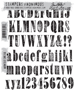 Tim Holtz Cling Rubber Stamps WORN TEXT cms156 zoom image