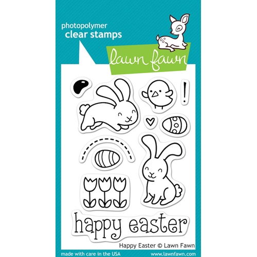 Lawn Fawn HAPPY EASTER Clear Stamps LF453 Preview Image