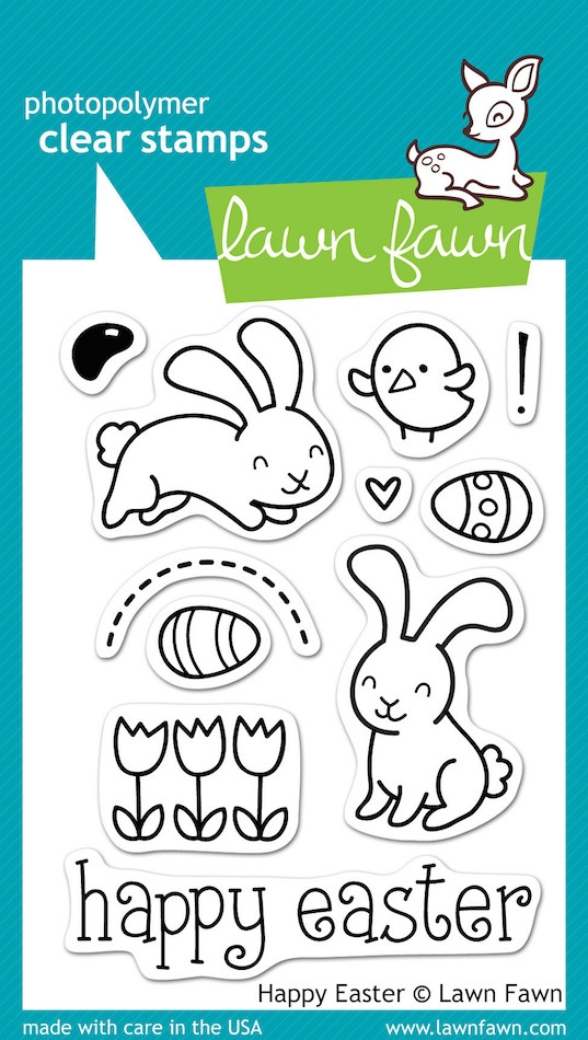 Lawn Fawn HAPPY EASTER Clear Stamps LF453 zoom image