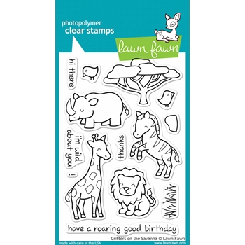 Lawn Fawn CRITTERS ON THE SAVANNA Clear Stamps