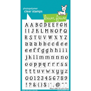 Lawn Fawn RILEY'S ABC's Clear Stamps
