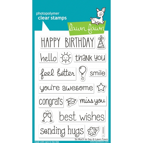 Lawn Fawn SO MUCH TO SAY Clear Stamps Preview Image
