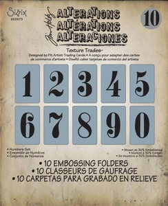 Tim Holtz Sizzix NUMBERS SET Texture Fades 658573 * Preview Image