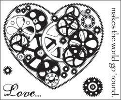 Technique Tuesday Clear Stamps LOVE MAKES THE WORLD GO ROUND zoom image