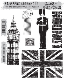Tim Holtz Cling Rubber Stamps LONDON SIGHTS cms158