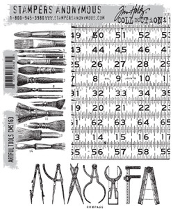 Tim Holtz Cling Rubber Stamps ARTFUL TOOLS cms163 *