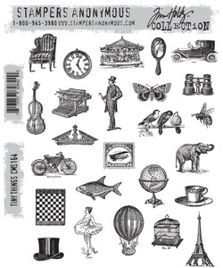 Tim Holtz Cling Rubber Stamps TINY THINGS CMS164*