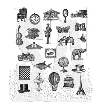 Tim Holtz Cling Rubber Stamps TINY THINGS CMS164