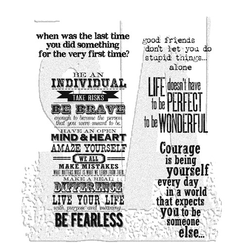 Tim Holtz Cling Rubber Stamps WAY WITH WORDS cms165 Preview Image