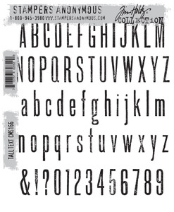 Tim Holtz Cling Rubber Stamps TALL TEXT CMS166 Preview Image