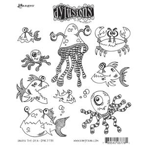 Dyan Reaveley UNDER THE SEA Stamp Set Dylusions Cling Unmounted Rubber
