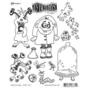 Dyan Reaveley MONSTER MASH Stamp Set Dylusions Cling Unmounted Rubber DYR37750