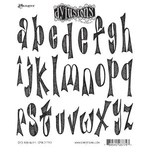 Dyan Reaveley DY'S ALPHABET Stamp Set Dylusions Cling Unmounted Rubber dyr37743 zoom image