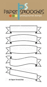 Paper Smooches STREAMERS Clear Stamps Kim Hughes Preview Image
