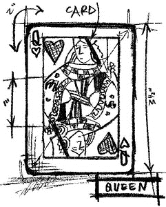 Tim Holtz Rubber Stamp QUEEN SKETCH Stampers Anonymous u1-2063* Preview Image
