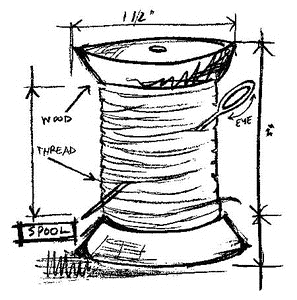 Tim Holtz Rubber Stamp SPOOL SKETCH Stampers Anonymous M2-2073 zoom image