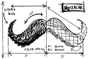 Tim Holtz Rubber Stamp MOUSTACHE SKETCH Stampers Anonymous P4-2086