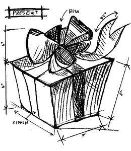 Tim Holtz Rubber Stamp GIFT SKETCH Stampers Anonymous U2-2095 Preview Image