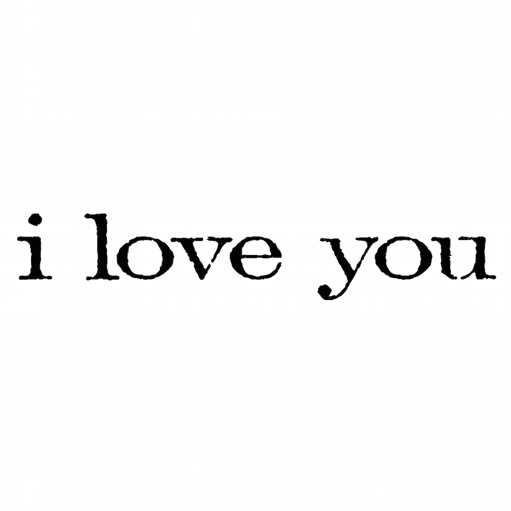 Tim Holtz Rubber Stamp I LOVE YOU Stampers Anonymous D6-2159 zoom image