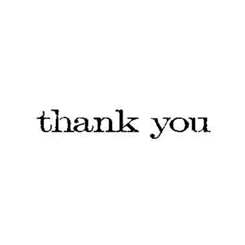 Tim Holtz Rubber Stamp THANK YOU Stampers Anonymous D6-2150