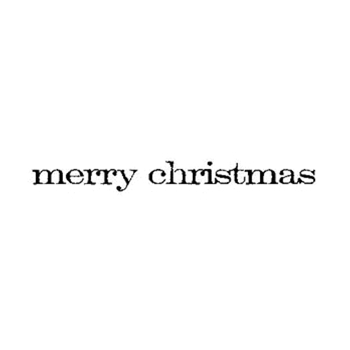 Tim Holtz Rubber Stamp MERRY CHRISTMAS E4-2157