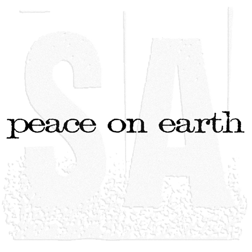 Tim Holtz Rubber Stamp PEACE ON EARTH Stampers Anonymous E4-2156 Preview Image