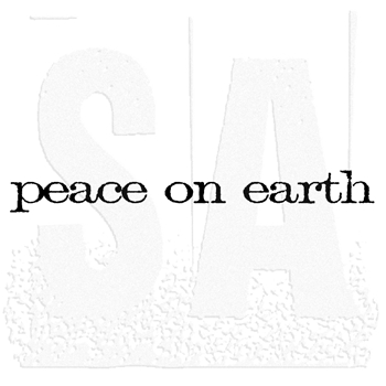 Tim Holtz Rubber Stamp PEACE ON EARTH Stampers Anonymous E4-2156