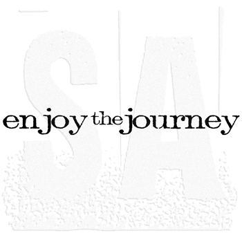 Tim Holtz Rubber Stamp ENJOY THE JOURNEY Stampers Anonymous E4-2170*