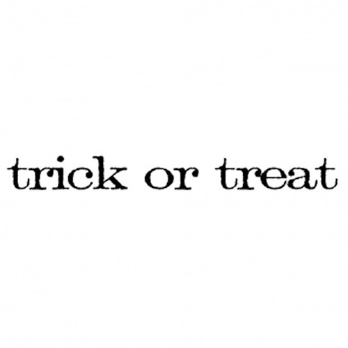 Tim Holtz Rubber Stamp TRICK OR TREAT Stampers Anonymous D5-2153* Preview Image