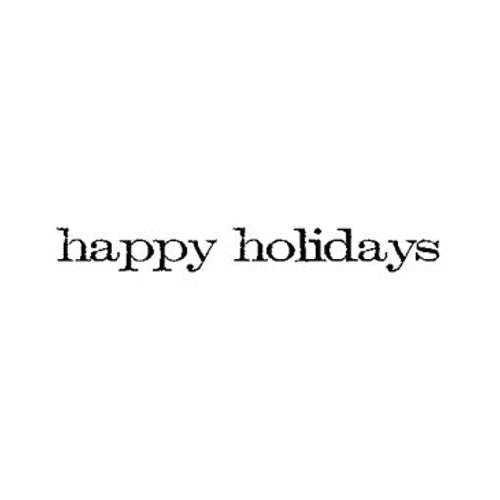 Tim Holtz Rubber Stamp HAPPY HOLIDAYS Stampers Anonymous E4-2155* Preview Image