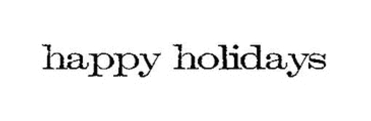 Tim Holtz Rubber Stamp HAPPY HOLIDAYS Stampers Anonymous E4-2155* zoom image