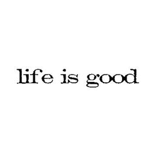 Tim Holtz Rubber Stamp LIFE IS GOOD Stampers Anonymous D6-2164 Preview Image