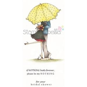 Stamping Bella Cling Stamp UPTOWN COUPLE EMILY AND RYAN UNDER THE UMBRELLA Rubber UM EB239 zoom image