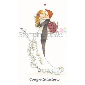Stamping Bella Cling Stamp UPTOWN COUPLE BRETT AND BRENDA GET MARRIED Rubber UM EB237 zoom image