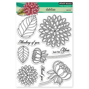 Penny Black Clear Stamps DAHLIAS 30-159