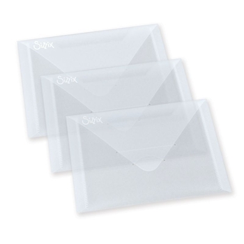 Sizzix PLASTIC ENVELOPES 3 PACK For Thinlits 654452