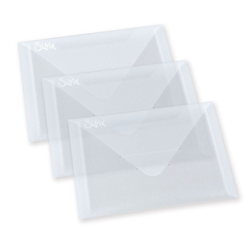 Sizzix PLASTIC ENVELOPES 3 PACK For Thinlits 654452 zoom image