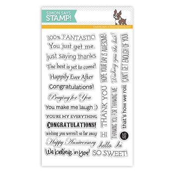 Simon Says Clear Stamps TILTED BANNER SAYINGS sss101307 *