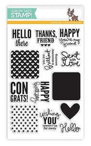 Simon Says Clear Stamps SQUARE SAYINGS sss101308 *