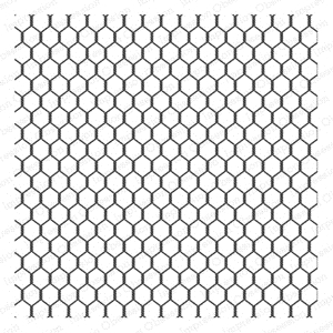 Impression Obsession Cling Stamp CHICKEN WIRE CC155 zoom image