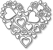 Impression Obsession Steel Dies HEART OF HEARTS DIE052 I