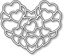 Impression Obsession Steel Dies LAYERED HEARTS DIE056 J Preview Image