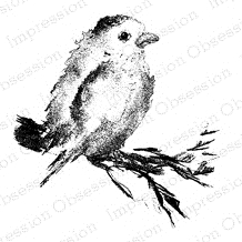 Impression Obsession Cling Stamp BIRD E7716