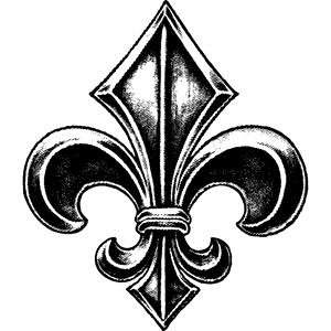 Tim Holtz Rubber Stamp FLEUR DE LIS Stampers Anonymous H2-2107